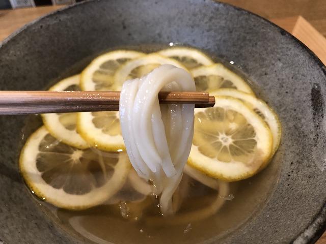レモンうどんのコシ