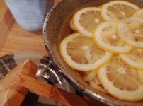 瀬戸内レモンの冷かけうどん
