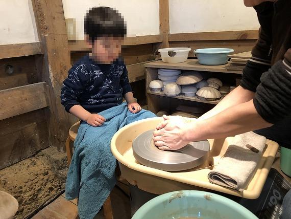 子供も陶芸体験