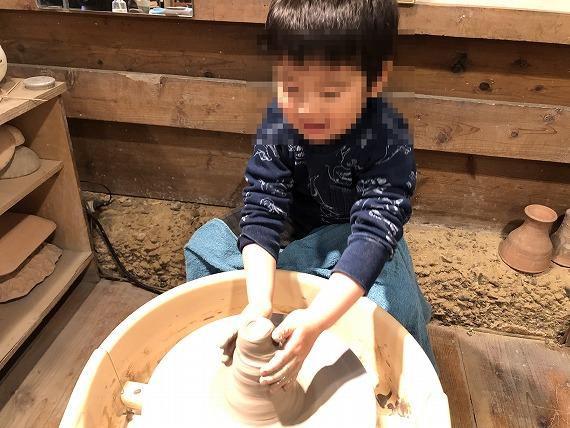 子供が陶芸体験